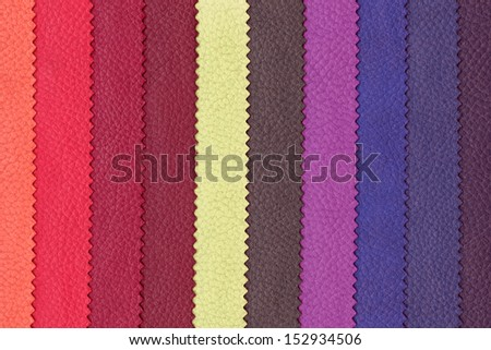 Abstract striped background of artificial leather in rainbow colors, highly detailed - stock photo