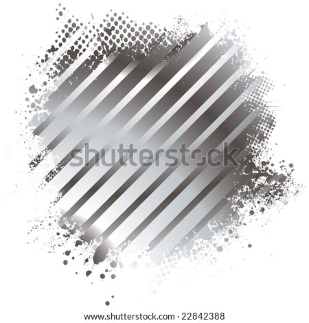 Abstract stripped golden background with half tone dot - stock photo