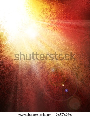abstract sunburst background design concept of sun bursting through the clouds or a message from heaven, bright white color splash or spot with white rays of sun beams spreading down, lens flare - stock photo