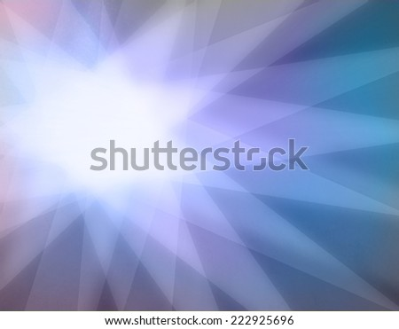abstract sunburst star background with brilliant center spot and layered triangle shaped rays - stock photo