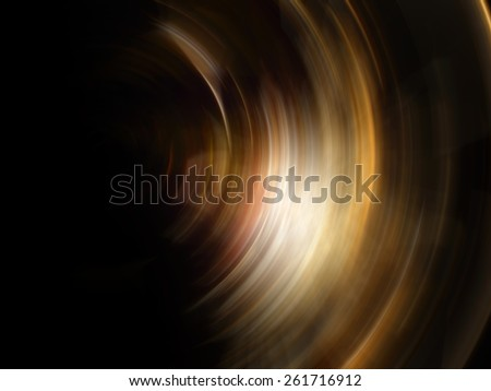 Abstract Sunlight, abstract of golden spin for background used - stock photo