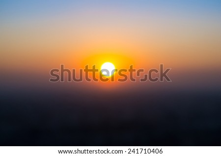 abstract sunset - stock photo