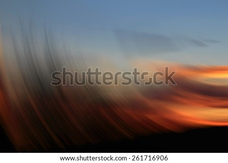 Abstract sunset, abstract of golden spin for background used - stock photo