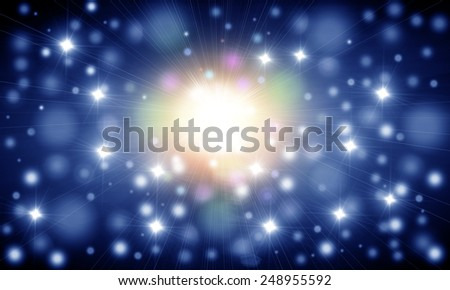 Abstract Supernova - stock photo