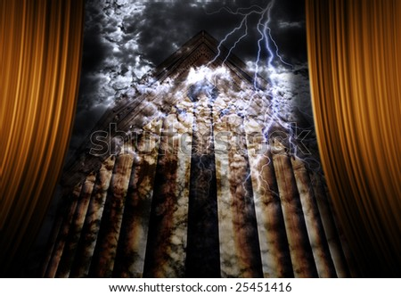 Abstract Surreal stage - stock photo