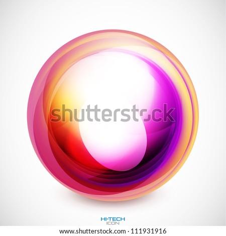 Abstract swirl motion design. Raster version of my vector illustration - stock photo