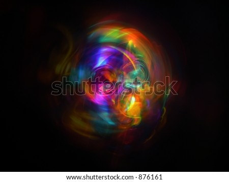 abstract swirl of colors - stock photo