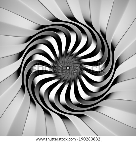 Abstract swirl of lines, 3D - stock photo