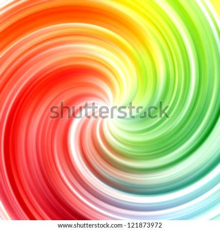 Abstract swirl rainbow colorful background - stock photo