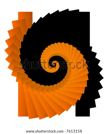Abstract swirly element background isolated - stock photo