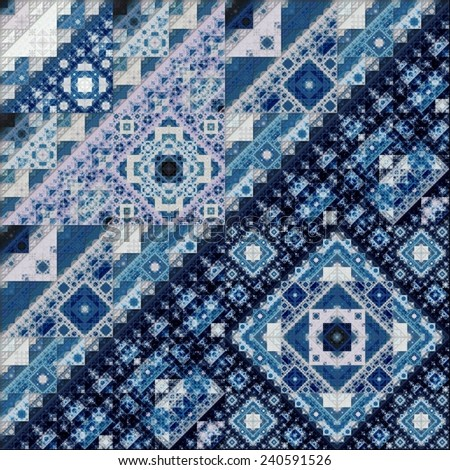 Abstract Symmetrical fractal Geometry Art Pattern  - stock photo
