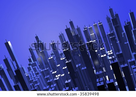 abstract tall skyscrapers, tall buildings architecture, lots of skyscrapers, urban concept, futuristic town, town with tall structures, future town concept, the city of tomorrow - stock photo