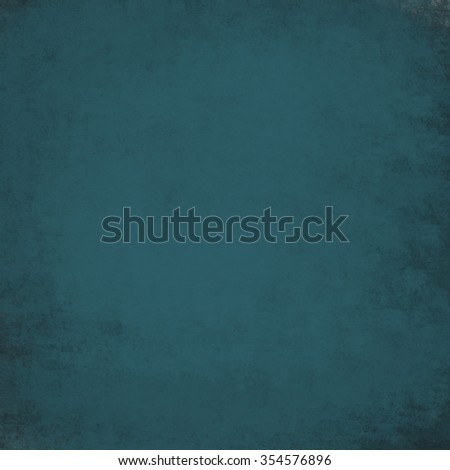 abstract teal blue green background, black shadow border frame, vintage grunge background texture, paper layout design, plastered wall paint - stock photo