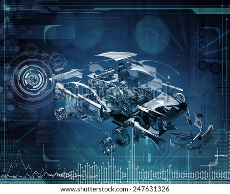 abstract tech design - stock photo