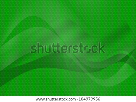 abstract techno background green colors and lights