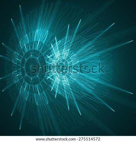Abstract technological  background, futuristic art illustration  - stock photo