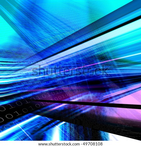 Abstract technology background, binary code - stock photo