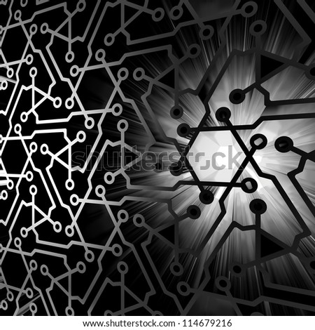 Abstract technology background. 3d render. - stock photo