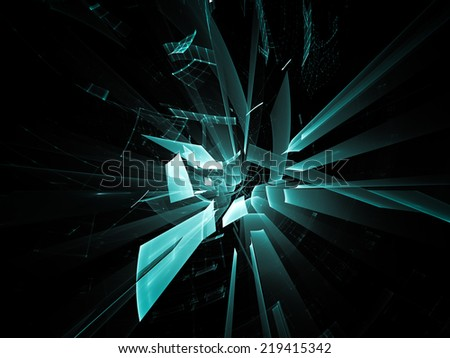 Abstract technology background in blue over black. - stock photo