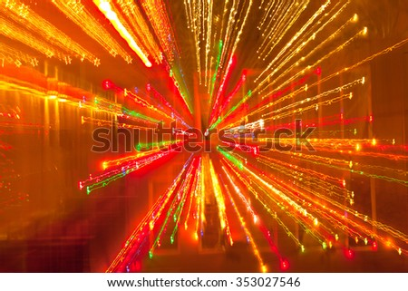 Abstract technology background with colorful fiber optic light burst, Christmas Holiday design