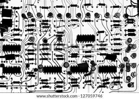 Abstract technology circuit board background - stock photo