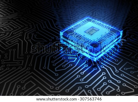 Abstract Technology Concept - stock photo
