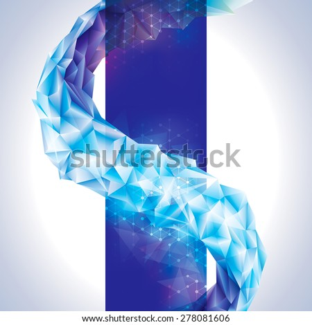 Abstract technology connection crystal background.   - stock photo