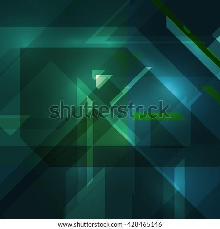 Abstract technology illustration, stylish concept  - stock photo