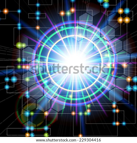 Abstract technology  internet high computer technology  background. Raster version. - stock photo