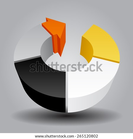 Abstract template with round and arrow. Contain the Clipping Path - stock photo