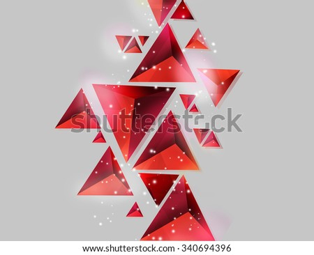 Abstract tetrahedrons background beautiful sparkling for Three d wallpaper