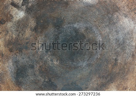 Abstract texture from the bottom of a cooking pot. - stock photo