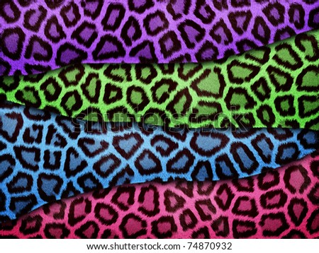 Abstract texture of colorful leopard skin - stock photo