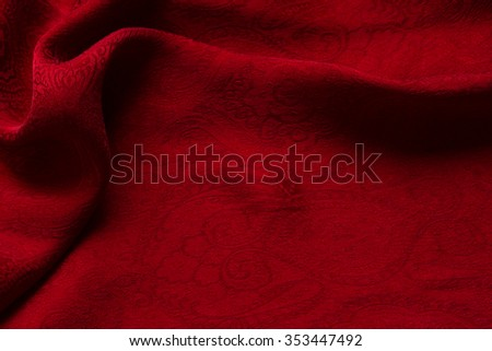 abstract texture of draped red velvet background