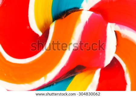 Abstract Texture of Melted Lollipop