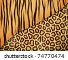 Abstract texture of mix leopard skin - stock vector