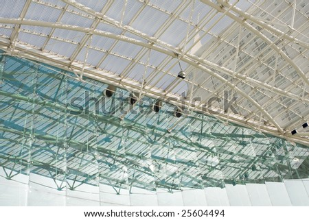 Abstract texture of modern building windows - stock photo