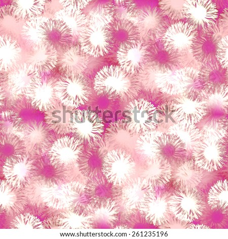 abstract texture, white and pink flower background, seamless pattern - stock photo