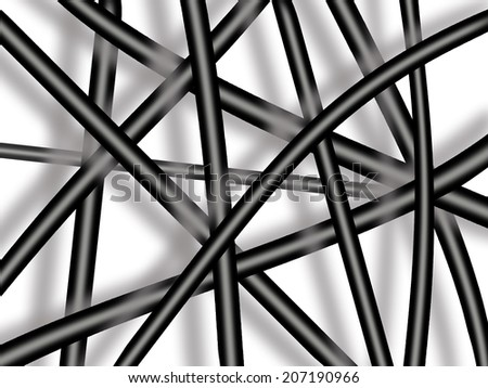 abstract texture with black lines on the white background