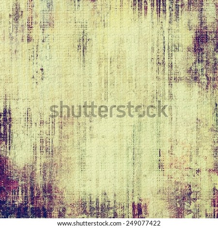 Abstract textured background designed in grunge style. With different color patterns: yellow (beige); brown; gray; purple (violet) - stock photo