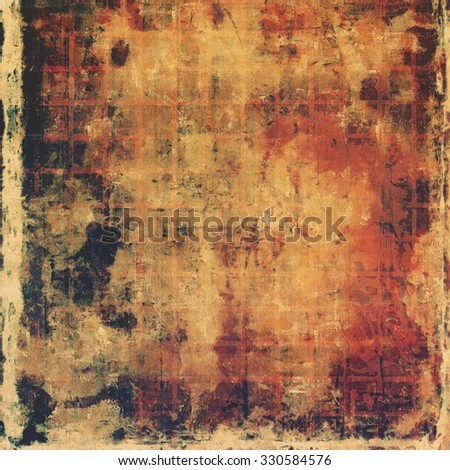 Abstract textured background designed in grunge style. With different color patterns: yellow (beige); brown; red (orange); black - stock photo
