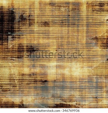 Abstract textured background designed in grunge style. With different color patterns: yellow (beige); brown; gray; black - stock photo