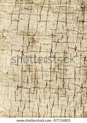 Abstract Textured Background of Grunge Chipped Cracked Peeling Flaking Paint Sepia Tan Colored Backdrop - stock photo