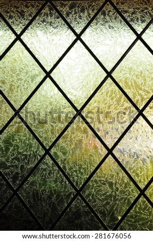 Abstract textured glass window - stock photo