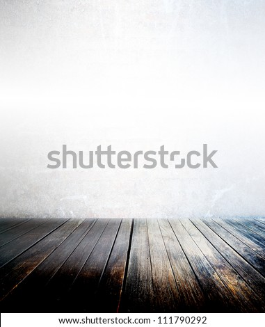 abstract the old wood floor for background - stock photo