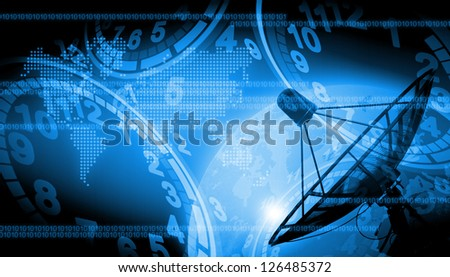 abstract the world technology use for background - stock photo