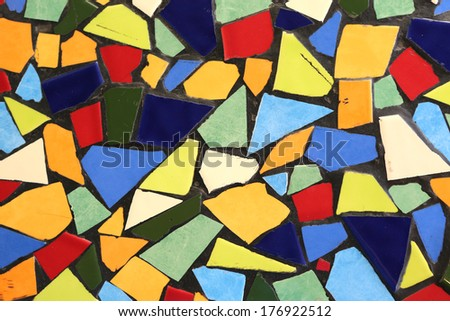 abstract tile mosaic pattern - stock photo