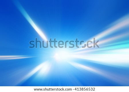 Abstract toned image of speed motion in a tunnel. - stock photo