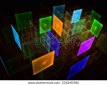Abstract transparent cubes background - stock photo