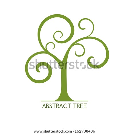 Abstract tree. May be used as icon.  Raster version